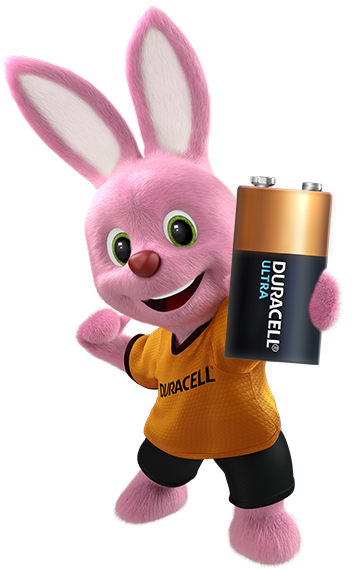 Duracell Bunny introduces the Ultra Alkaline 9V Battery