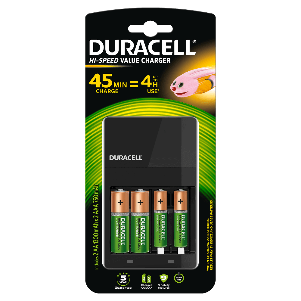 Duracell Hi Speed Value Charger For Aa Aaa Batteries Simple Led Torch Using Single 15v Battery