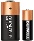 Two Duracell Specialty Batteries of different sizes