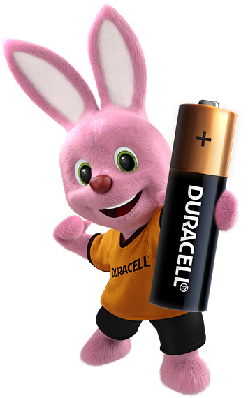 Duracell Pink Bunny introduces Duracell Alkaline AA Battery