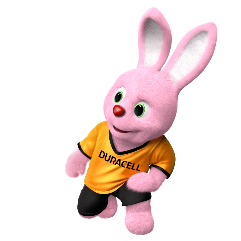 Duracell Bunny introduces all product categories to you