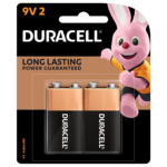 Duracell 9V Alkaline Battery in a 2-piece pack