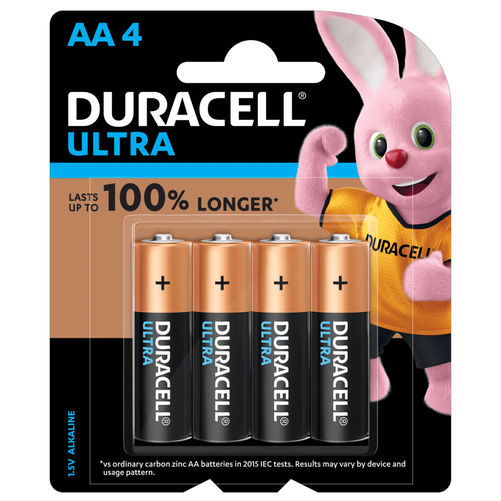 Duracell Ultra AA size Batteries in a 4-piece pack