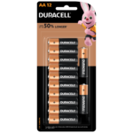 Duracell Alkaline AA size Batteries in a 12-piece pack