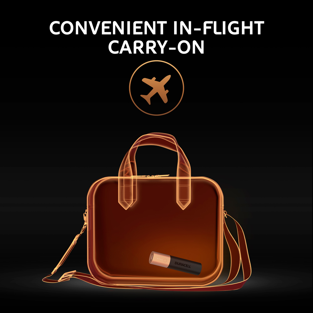 Duracell Power banks flight approved for carry on luggage