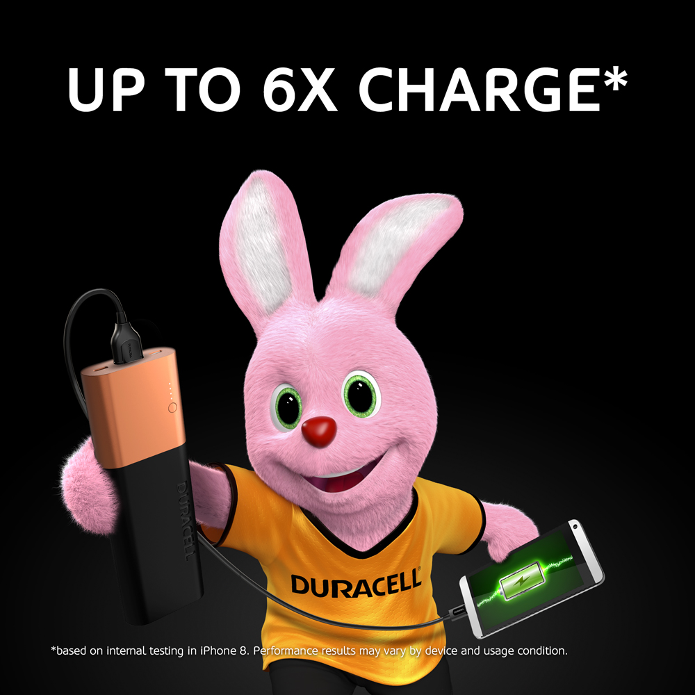 Duracell Powerbank 20100mAh energy equals to the 3 full iPhone 8 phone chargesDuracell Powerbank 10050mAh energy equals to the 6 full iPhone 8 phone charges