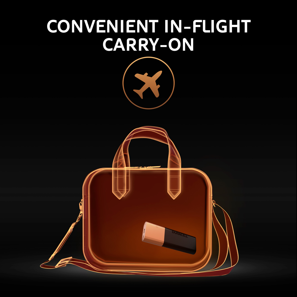 Convenient in flight carry-on luggage graphic