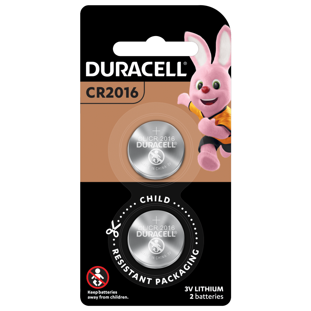 Specialty Lithium Coin 2016 Batteries in 2-piece pack