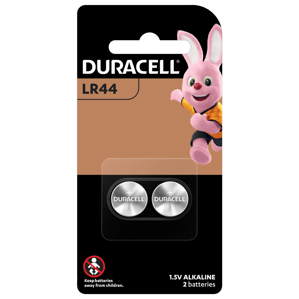Duracell Specialty Alkaline LR44 Coin Batteries in 2-piece pack