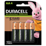 Duracell Rechargeable AA sized Batteries in a 4-piece pack