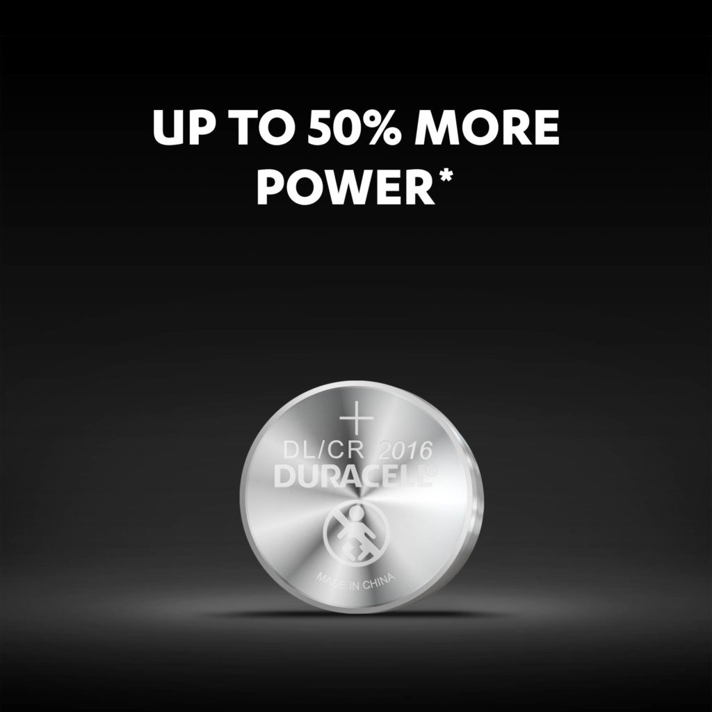 Duracell 2016 lithium Coin Batteries - Up to 50% more power