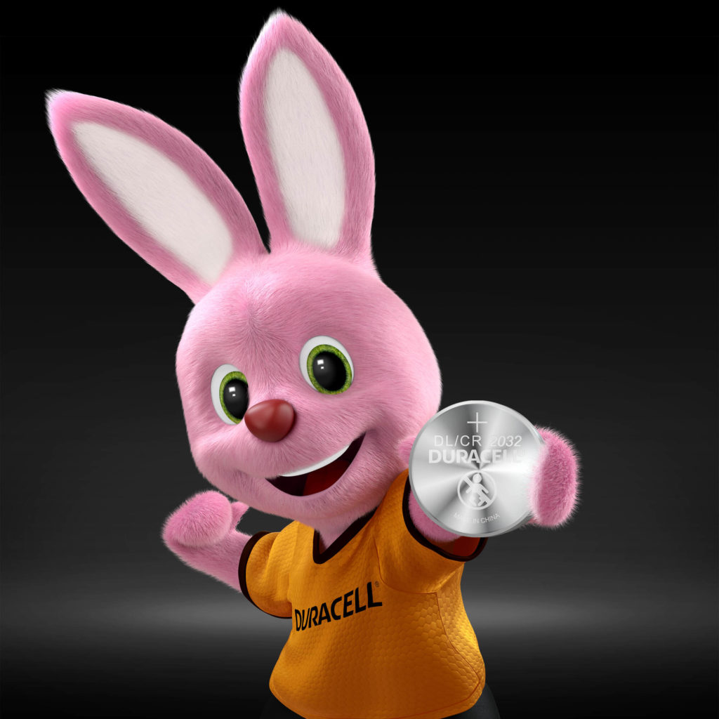Duracell Bunny introduces Lithium Coin 2032 Battery