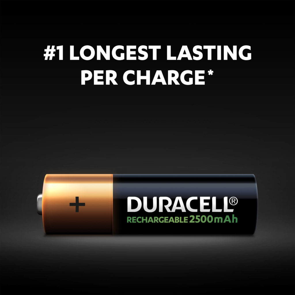 Number one longest lasting AA battery per charge