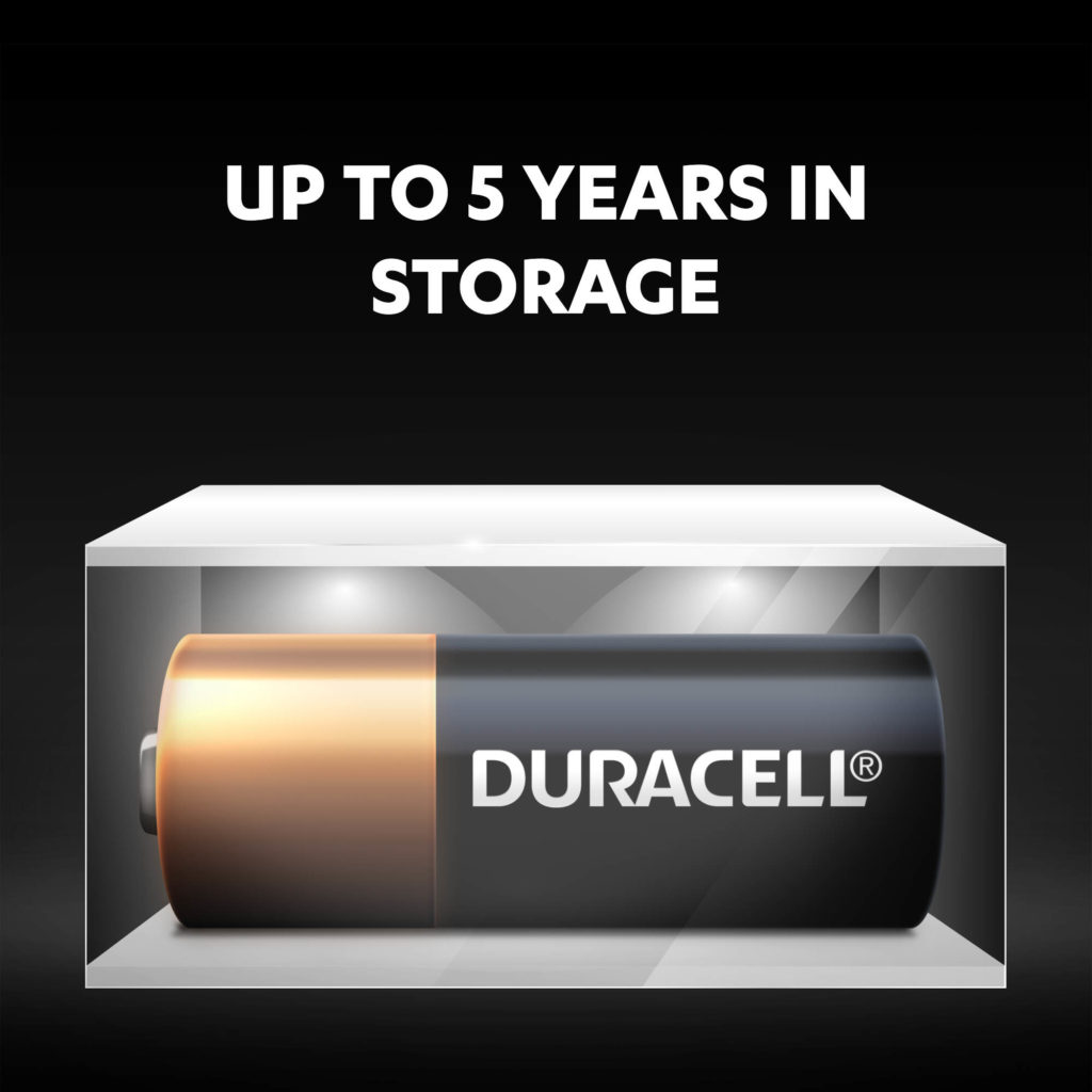 Duracell Duracell Specialty Alkaline MN21 Batteries stay fresh and powered for up to 5 years in ambient storage